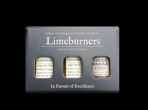 Limeburners Gift Pack - Port Cask, Sherry Cask, Tiger Snake