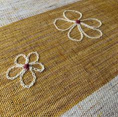 Handweaving inspired by sunsets in the Sahara Desert
