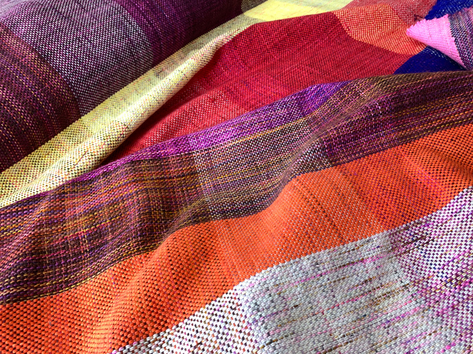 Handwoven Blanket inspired by Bhutan.