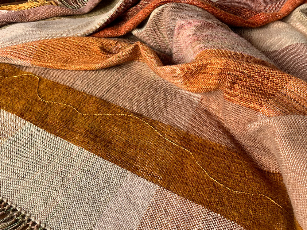 Inspired by journeys in the Sahara Desert this hand woven blanket makes the perfect gift for someone special.