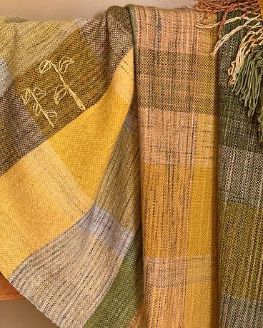 Hand woven artisan blanket. Unique designer gift.