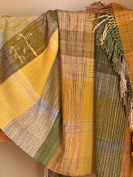 Hand woven artisan blanket. Unique special designer gift.