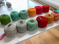 Indie dyed yarns are balled
