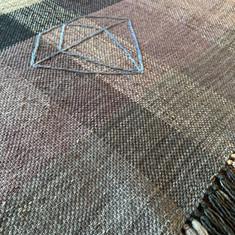 Denim and Gemstones handwoven blanket.
