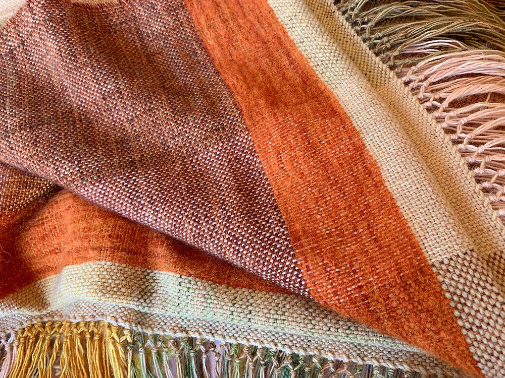 Skeinydipping handwoven blankets warm hearts and bodies. Stories are woven into blankets to last generations.