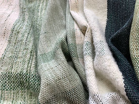 Julie Stephenson Skeinydipping handwoven blanket. Unique artisan designer gift.