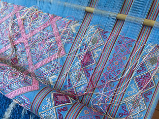 Julie Stephenson Skeinydipping weaving in Bhutan
