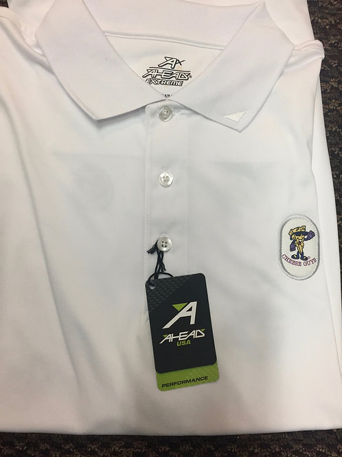 Cheese Guys Mens Patch Golf Shirt