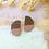 Thumbnail: Oversized Statement Wooden Stud Earrings