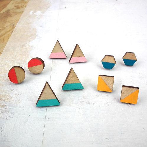 Geometric Stripe Studs