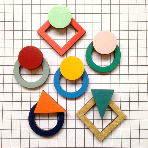 Geometric Cut Out Stud Earrings
