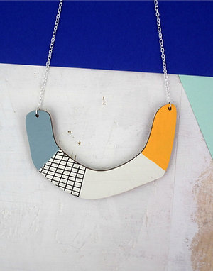 Petalo Grid Statement Necklace