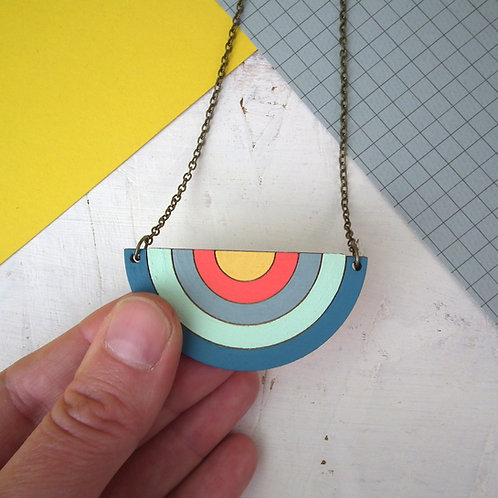 Extra Large Statement Rainbow Necklace