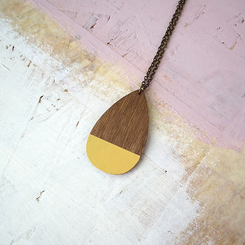 Large Teardrop Necklace CROP 6 Yellow.jp
