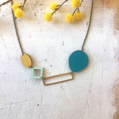 Statement Bloc Geometric Necklace