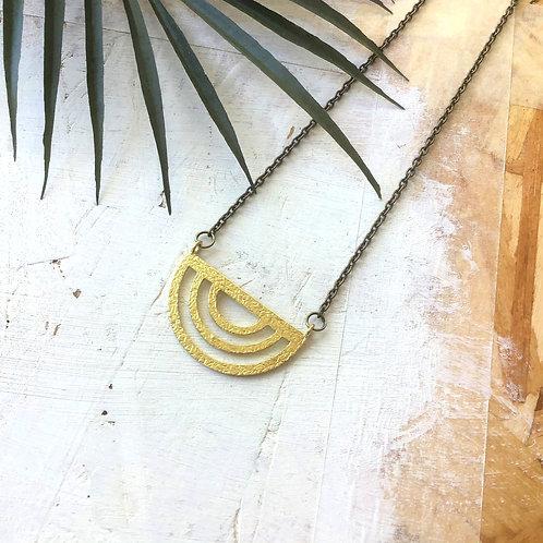 Orbit Brass Necklace