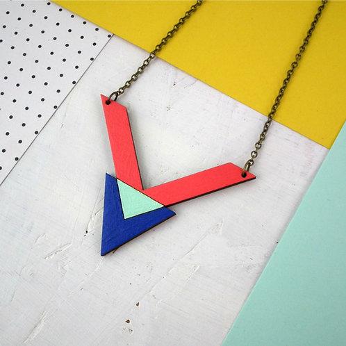 Chevron + Triangle Necklace