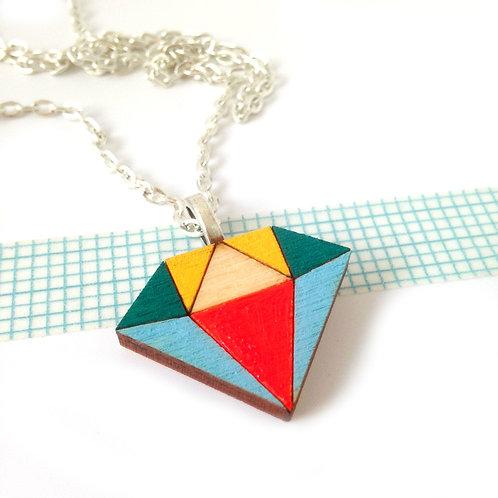 Diamond Necklace Primary Colours
