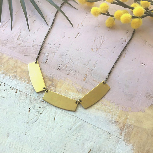 Inez Brass Trio Statement Necklace