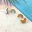 Thumbnail: Off Cut Wooden Stud Earrings