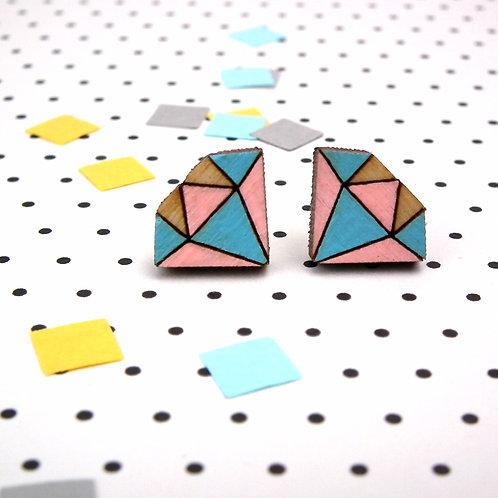 Pastel Diamond Studs
