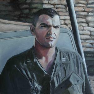 Rennie DiLoreto's Self-Portrait; USMC Veteran