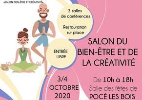 Salon du Bien-être et de la Créativité à Pocé Les Bois (35) -- 3 et 4 octobre 2020