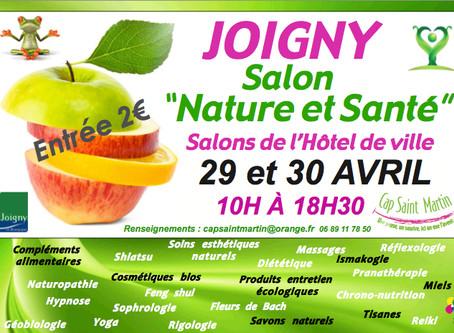 Salon Nature et Santé de Joigny (89) les 29 et 30 avril