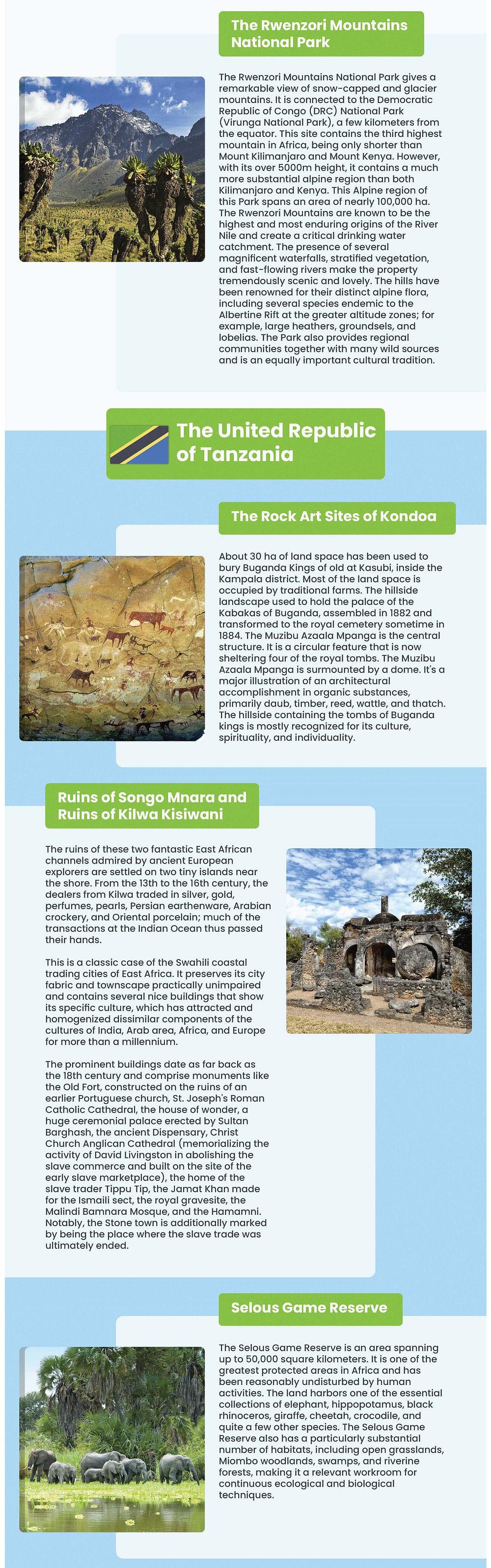 the Rwenzori mountains national park