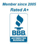 Better Business Bureau A+ member since 2005