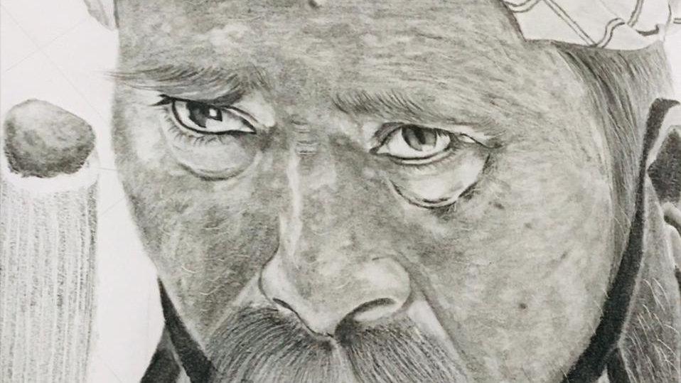Portrait sketch A4 size