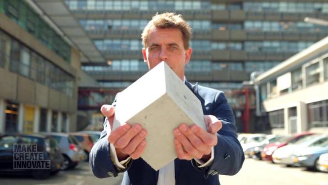 Profesor holandés crea un 'concreto vivo' que se repara a sí mismo
