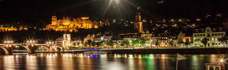 Heidelberg, Druck, PMA, Neckar, Alte Brücke, Schloss, Mondlicht, Nacht, Foto: Alexander Hauk