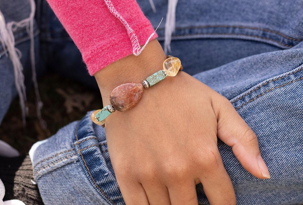 Red & Turquoise Stone Bracelet