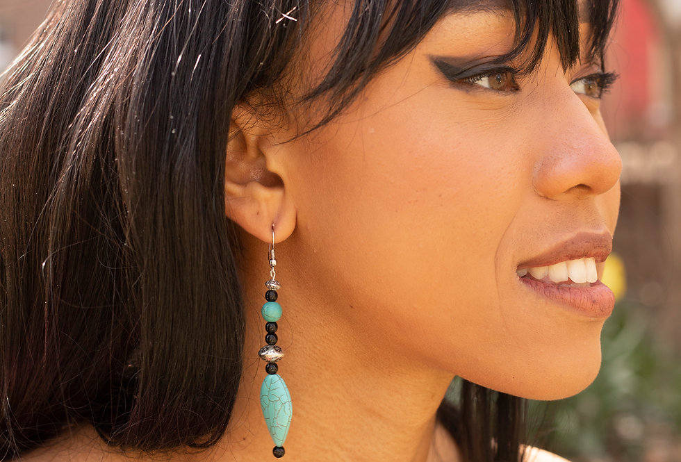 Black & Turquoise Earrings