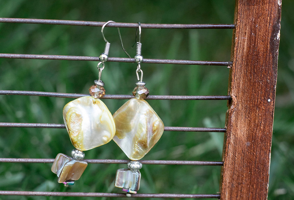 Yellow Stone Earrings
