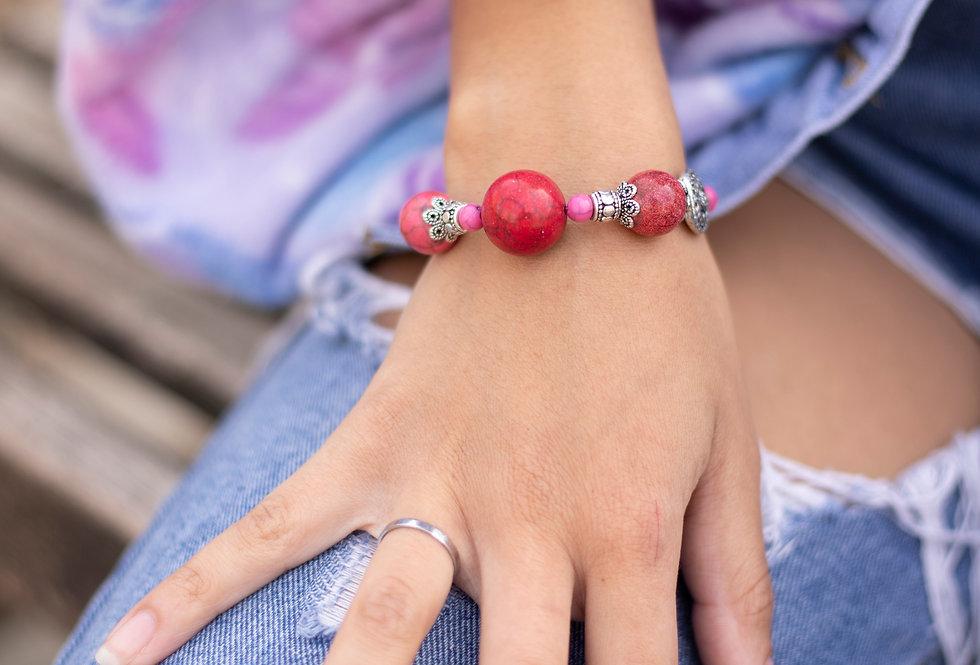 Pink Bauble Bracelet
