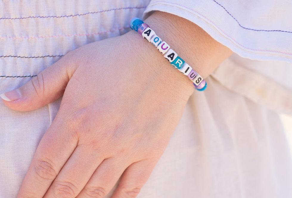 Aquarius Zodiac Bracelet