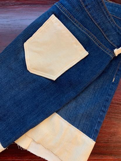 Custom Denim & Corduroy Skirt