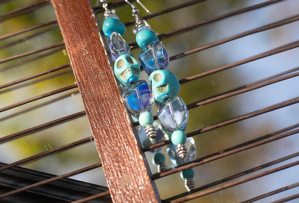 Turquoise & Crystal Earrings
