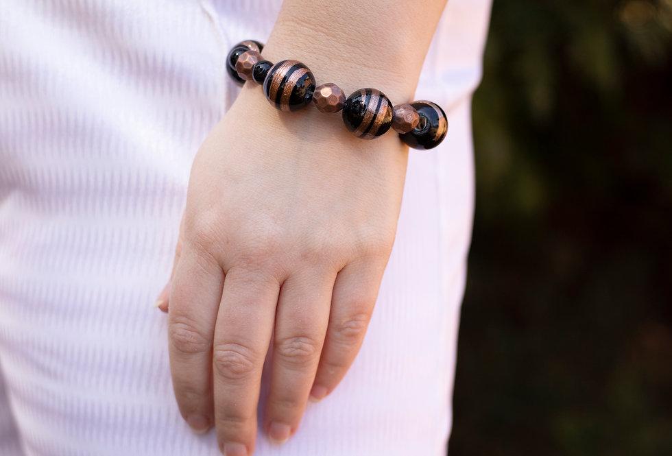 Black & Brown Beaded Bracelet