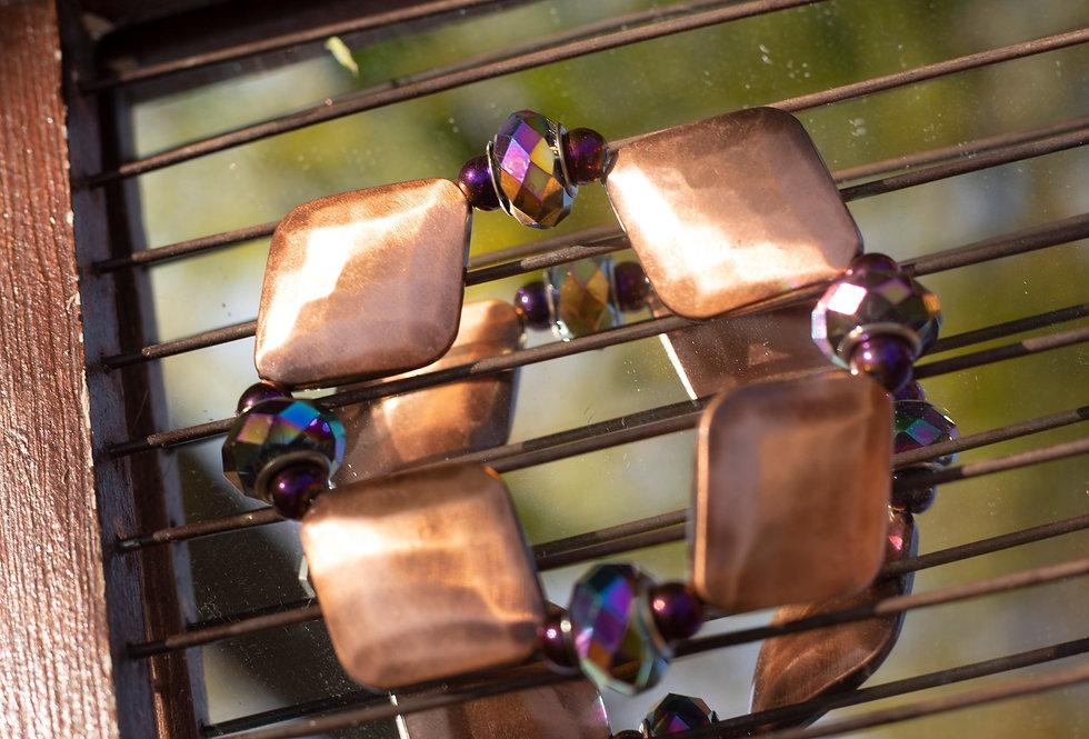 Bronze Diamond Bracelet