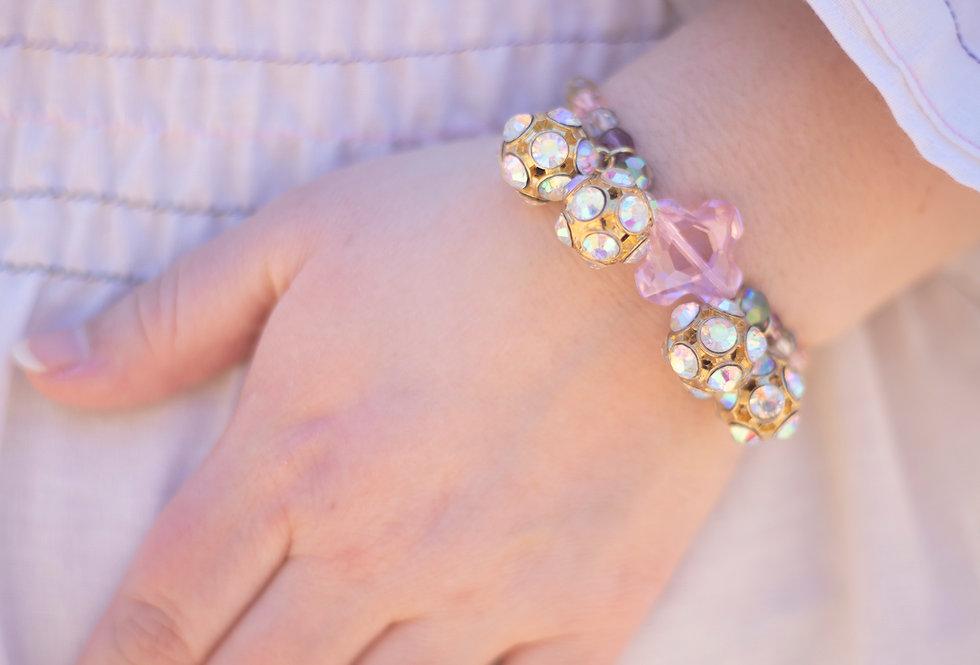 Pink Cluster Bracelet