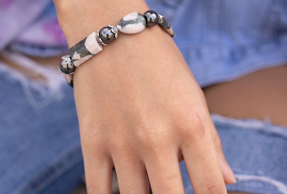 Mixed Bead Agate Bracelet