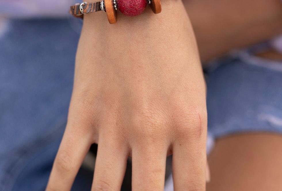 Striped Wood Bracelet