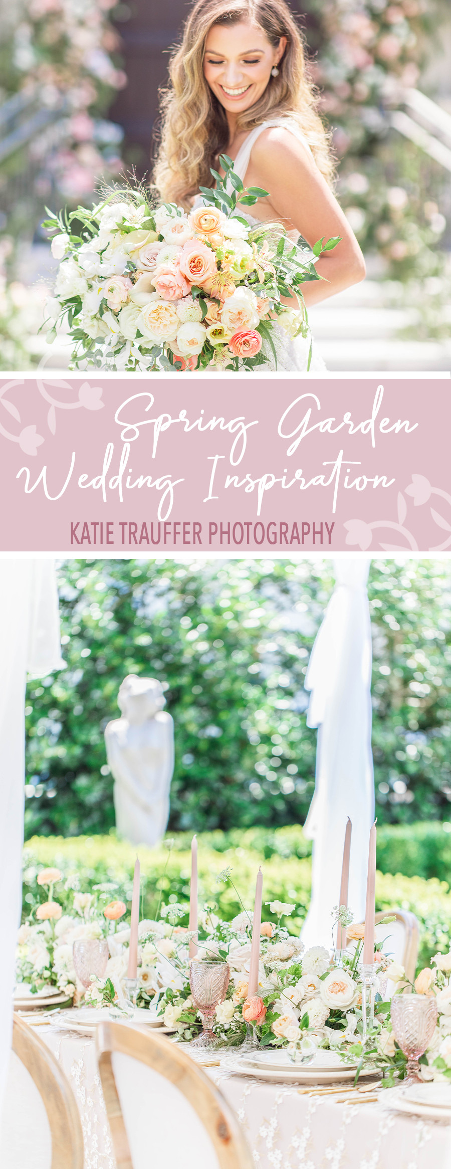 Spring Garden Wedding Inspiration by Katie Trauffer Photography