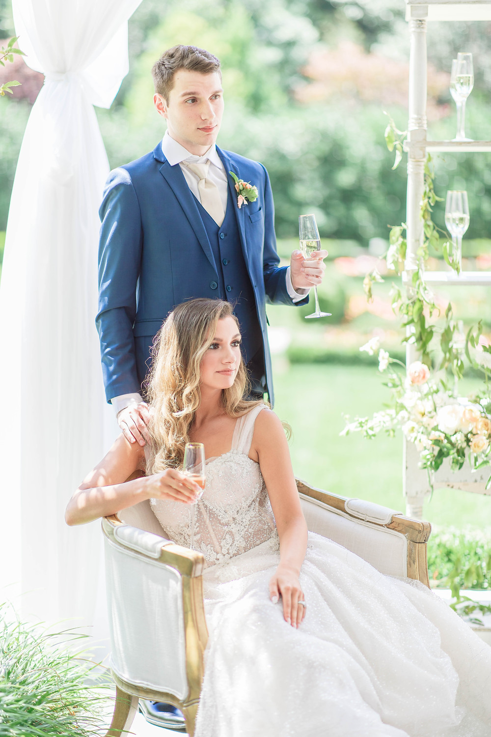 Spring Garden Wedding Inspiration by Katie Trauffer Photography