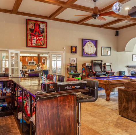 Game Room FT. Custom Bar