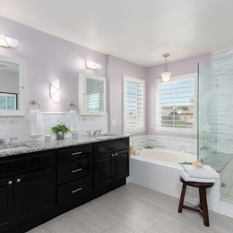 UPgraded Master Bathroom