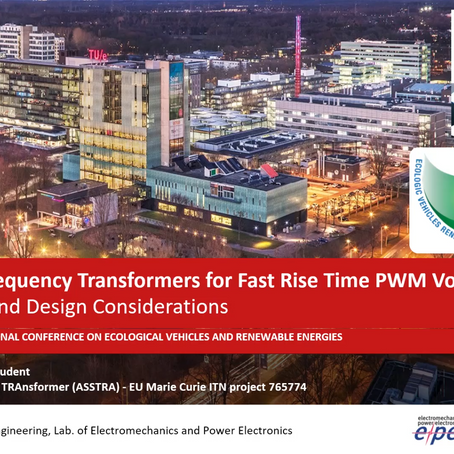 Medium-Frequency Transformers for Fast Rise Time PWM Voltages: Modelling and Design Considerations